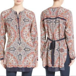 Theory| Maraseille Premont Tie Back Silk Blouse